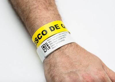 Pulseira identificação paciente