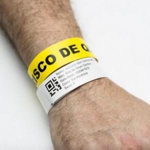 Etiqueta de identificação hospitalar